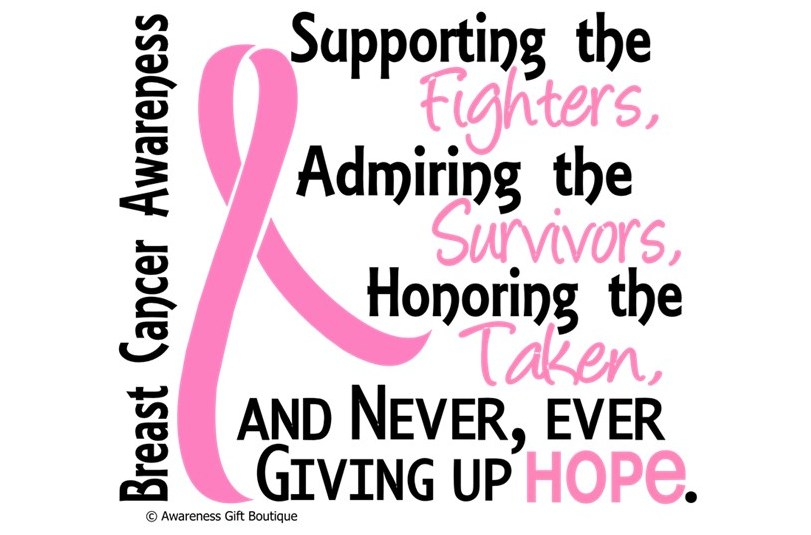 Supporting The Fighters, Admiring The Survivors, Honoring The Taken – Breast Cancer Awareness