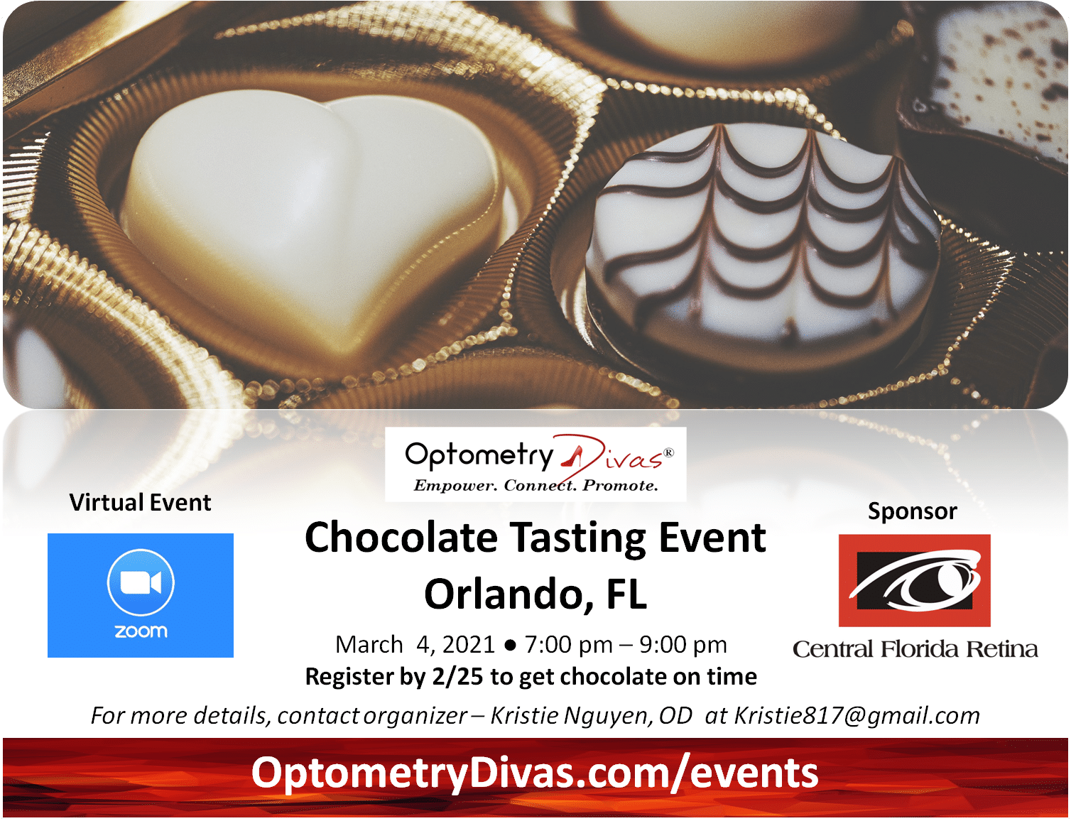 Orlando Chocolate Tasting Flyer